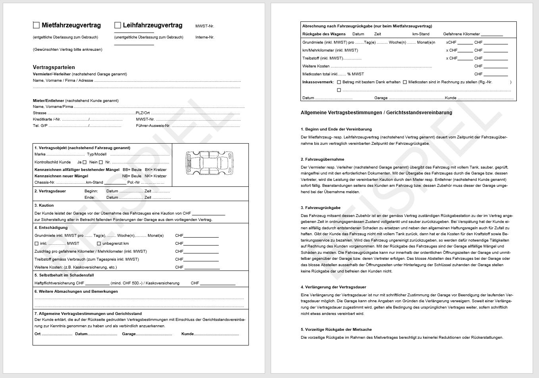 Download Mietfahrzeugvertrag / Leihfahrzeugvertrag | AGVS | UPSA ...