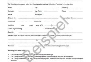 Konsignationsvertrag