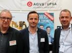 Bruno Moser (VSCI), Thomas Jäggi und Olivier Maeder (AGVS): «Wir können hier im perfekten Umfeld unsere Aus- und Weiterbildungen präsentieren.»