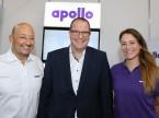 Felice Di Paolo, Markus Brunner und Selina Friedli (Apollo): «Das Publikum ist aus der Branche und sehr interessiert an den präsentierten Produkten.»
