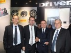 Giorgio Feitknecht (künftiger ESA-GL-Vorsitzender), Dieter Jermann (Pirelli), Charles Blaettler (scheidender ESA-GL-Vorsitzender) und Daniel Steinauer (ESA)