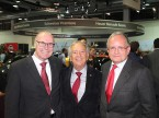 Markus Hutter (ex-Nationalrat und ESA -Präsident), André Hefti (Auto-Salon Genf) und François Launaz (auto-schweiz)