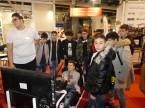 Die Besucherströme und das Interesse am AGVS Stand sind nicht zuletzt wegen dem attraktiven Formel 1 Simulator sehr gross