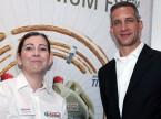 Alice Michalky und Antony Kunnen (Castrol)