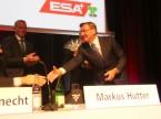 Nahm zahlreiche Gratulationen entgegen: Charles Blättler, ehemaliger Vorsitzender der ESA-Geschäftsleitung.
