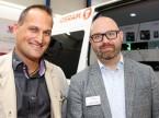 Nico Schmid und Christian Filomeno (Osram): «Dank dem direkten Zugang zur Zielgruppe können wir hier den Markt spüren.»