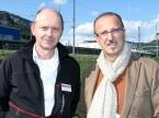 Kurt Wyssbrod (Technomag) und Giuseppe Raia (Altola): «Die Garagisten können direkt mit den Lieferanten sprechen, was nur selten der Fall ist.»