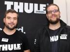 Bastian Gawer und Daniel Büllesbach (Thule): «Hier entstehen in einer entspannten Atmosphäre gute Gespräche mit den Garagisten.»